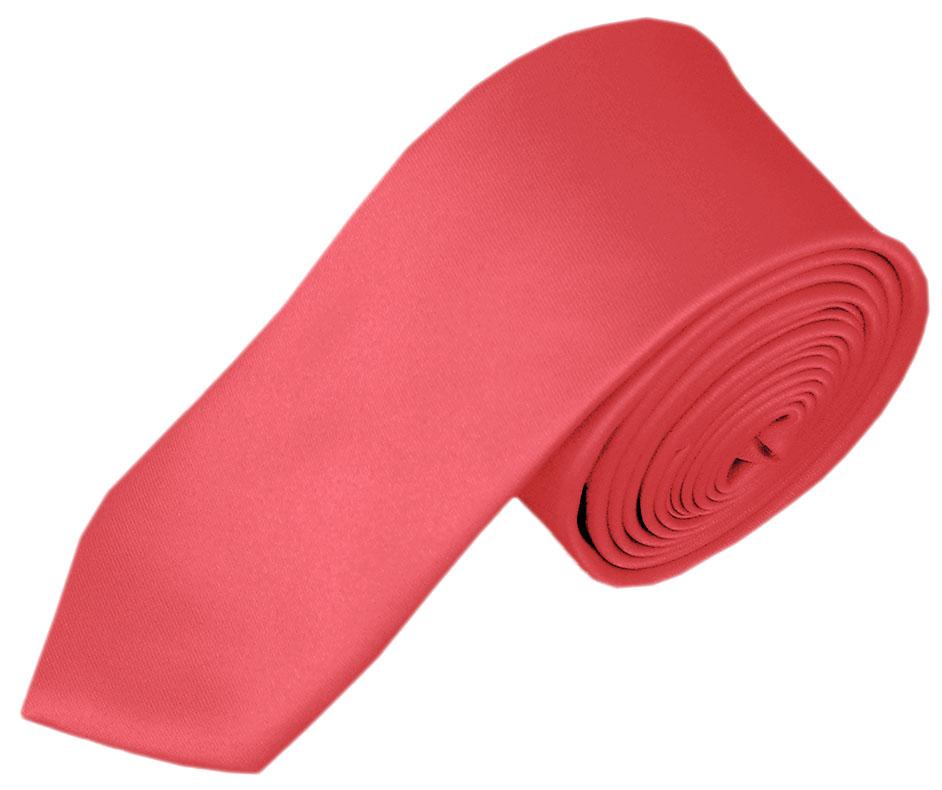 Boys' Solid Coral Rose Necktie