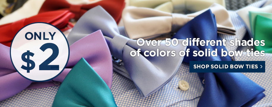 Solid Color Bow Ties