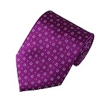 "SD-120B | Dust Pink and Gray Geometric Pixels on Violet Textured Men's 2.75"" Slim Woven Tie"