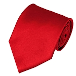 XL-01 | Solid Red Men's X-Long Tie