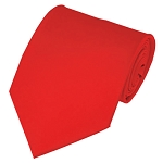 PS-04 | Solid Coral Red Traditional Men's Necktie