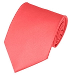 PS-06 | Solid Coral Rose Traditional Men's Necktie