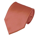 PS-08 | Solid Palm Coast Coral Traditional Men's Necktie