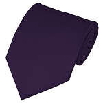 XL-103 | Solid Eggplant Men's X-Long Tie