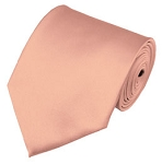 XL-16 | Solid Light Salmon Men's X-Long Tie