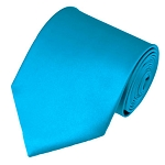 PS-18 | Solid Turquoise Blue Traditional Men's Necktie
