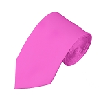 SL-05 | Solid Hot Pink Slim Tie For Men
