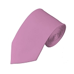 SL-10 | Solid Dusty Pink Slim Tie For Men