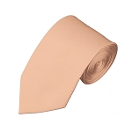 SL-16 | Solid Light Salmon Slim Tie For Men