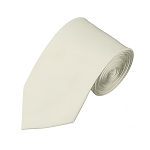 SL-21 | Solid Cream Slim Tie For Men