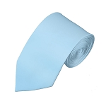 SL-26 | Solid Powder Blue Slim Tie For Men
