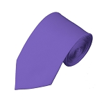SL-29 | Solid Purple Slim Tie For Men