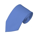 SL-30 | Solid Steel Blue Slim Tie For Men