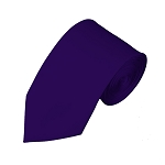 SL-31 | Solid Dark Purple Slim Tie For Men