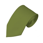 SL-34 | Solid Olive Green Slim Tie For Men