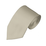 SL-41 | Solid Beige Slim Tie For Men