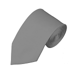 SL-50 | Solid Silver Slim Tie For Men