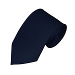 SL-53 | Solid Navy Blue Slim Tie For Men