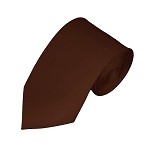 SL-55 | Solid Brown Slim Tie For Men