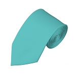 SL-74 | Solid Aqua Green Slim Tie For Men