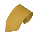 SL-75 | Solid Honey Gold Slim Tie For Men