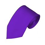 SL-77 | Solid Plum Violet Slim Tie For Men