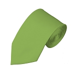 SL-78 | Solid Pear Green Slim Tie For Men