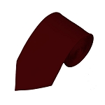SL-93 | Solid Maroon Slim Tie For Men
