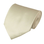 XL-21 | Solid Cream Men's X-Long Tie