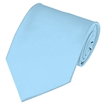 PS-26 | Solid Powder Blue Traditional Men's Necktie