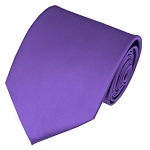 PS-29 | Solid Purple Traditional Men's Necktie