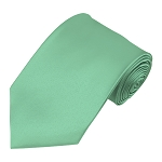 PS-33 | Solid Mint Green Traditional Men's Necktie
