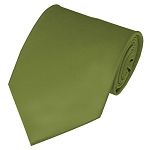 PS-34 | Solid Olive Green Traditional Men's Necktie