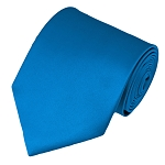 XL-35 | Solid Peacock Blue Men's X-Long Tie