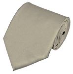 PS-41 | Solid Beige Traditional Men's Necktie