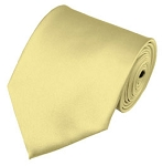 PS-45 | Solid Light Yellow Traditional Men's Necktie