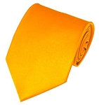 PS-48 | Solid Golden Yellow Traditional Men's Necktie