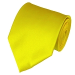 PS-49 | Solid Lemon Yellow Traditional Men's Necktie
