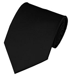 PS-58 | Solid Black Traditional Men's Necktie