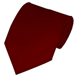 PS-62 | Solid Burgundy Traditional Men's Necktie