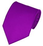 PS-69 | Solid Violet Traditional Men's Necktie