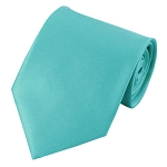 PS-74 | Solid Aqua Green Traditional Men's Necktie