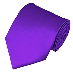 XL-77 | Solid Plum Violet Men's X-Long Tie