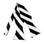 SDS-5820 | Self Tie Black and White College Stripe Bow Tie