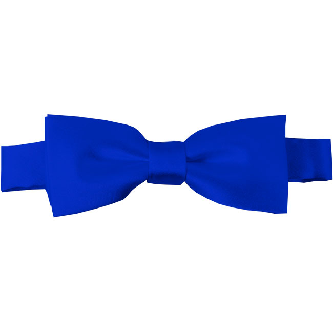 Btk 36 Kids Solid Royal Blue Pre Tied Bow Tie