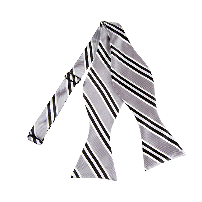 bls 07 black silver and white narrow striped woven self