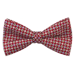 PB-01C | Pre-tied Repeating Flowers on Red Men's Printed Design Bow Tie