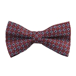 PB-02B | Pre-tied Circle Print Pattern on Light Raspberry Men's Printed Design Bow Tie