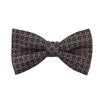 PB-02C | Pre-tied Circle Print Pattern on Brown/Gold Men's Printed Design Bow Tie
