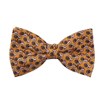 PB-03C | Pre-tied Lavender French Horn Patterns on Yellow Men's Printed Design Bow Tie